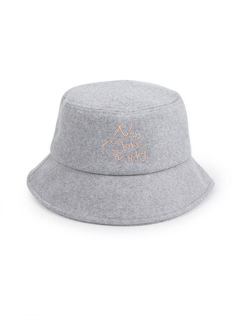 Характер принт Зимняя Шляпа-ведро - Серый  Mobile