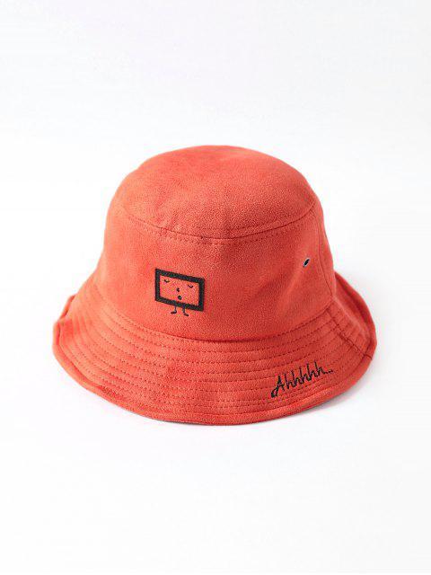 Chapeau Seau Dessin Animé Brodé Imprimé - Tangerine  Mobile