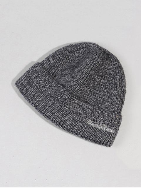 Chapeau d'Hiver Chic Tricoté en Laine - Gris Foncé  Mobile