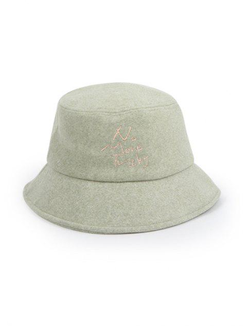 affordable Thick Character Pattern Winter Bucket Hat - GREEN  Mobile
