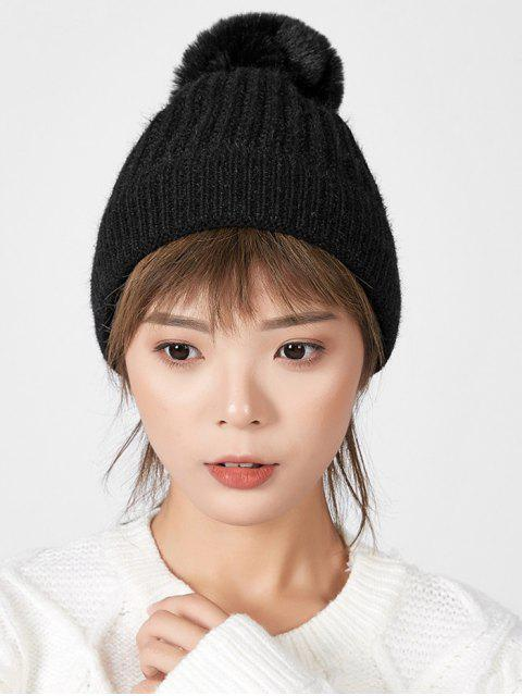 hot Winter European Simple Knitted Hat - BLACK  Mobile