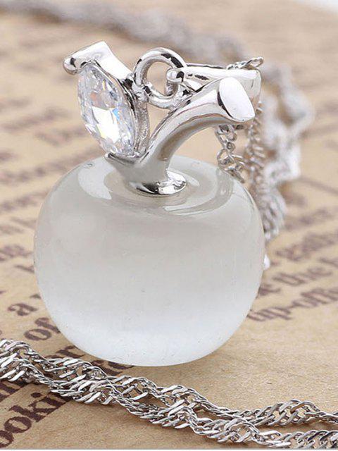 Рождественская форма яблока С подвеской Ожерелье - Серебристый  Mobile