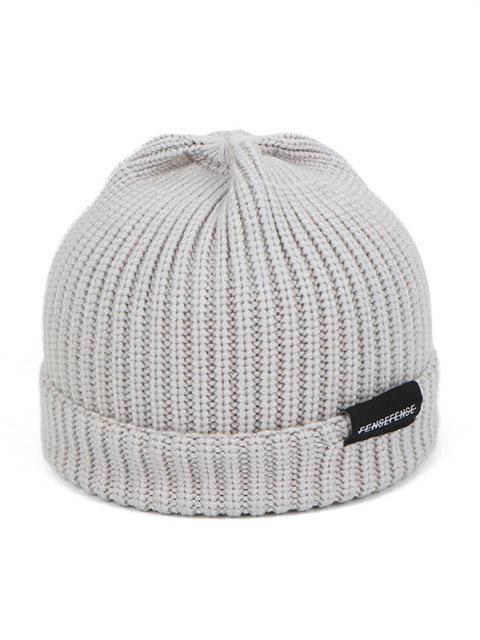 chic Woolen Yarn Solid Winter Knitted Hat - GRAY  Mobile