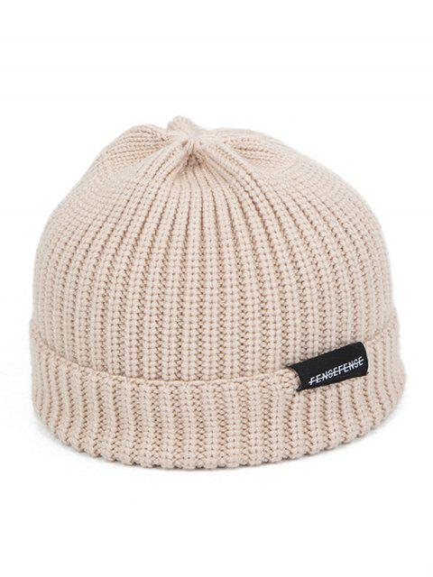affordable Woolen Yarn Solid Winter Knitted Hat - BEIGE  Mobile