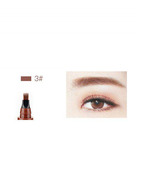 womens Four-head Branch Lasting Eyebrow Pen - CHESTNUT RED  Mobile