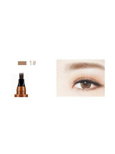 outfits Four-head Branch Lasting Eyebrow Pen - LIGHT BROWN  Mobile