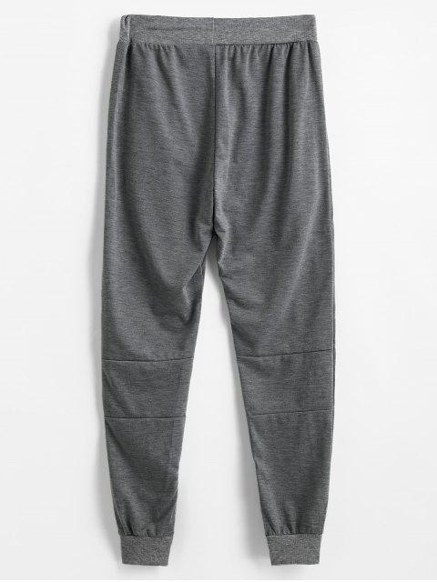 平原郵編下擺鉛筆褲 - 深灰色 L Mobile