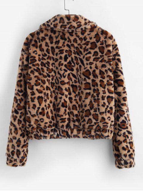 Mantel mit Leopardenmuster und Reißverschluss - Leopard L Mobile