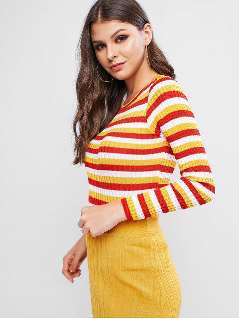 Jersey Ajustado con Bloqueo de Color - Amarillo Talla única Mobile