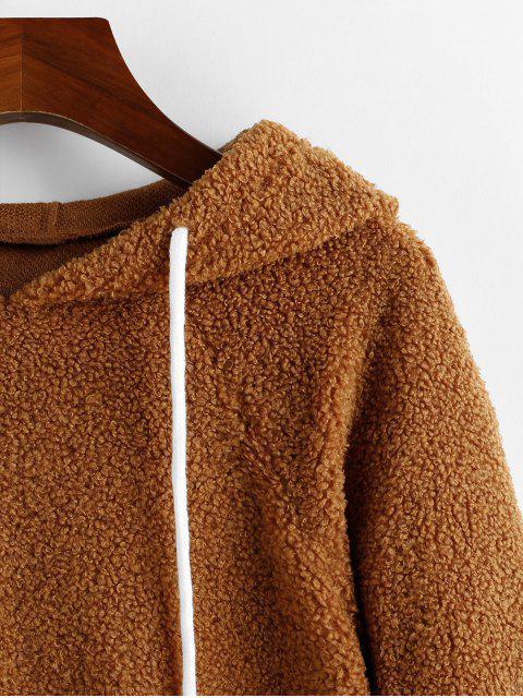 ZAFUL對比度邊縫泰迪帽衫 - 多-A XL Mobile