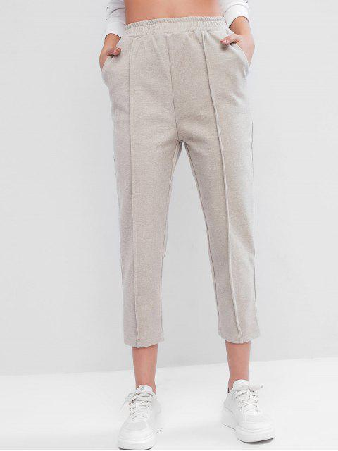 Pantalón Corte Cintura Alta y Bolsillo - Crema de Cristal M Mobile