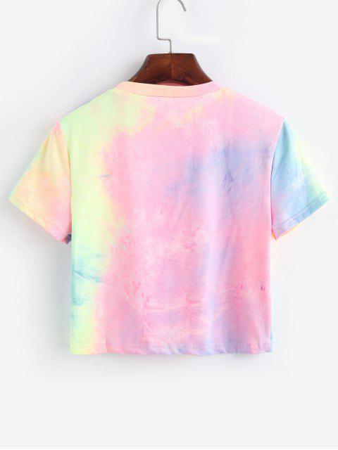 T-shirt Court Teinté à Col Rond - Multi L Mobile
