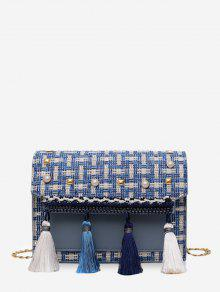 Tassel Tweed Square Bag