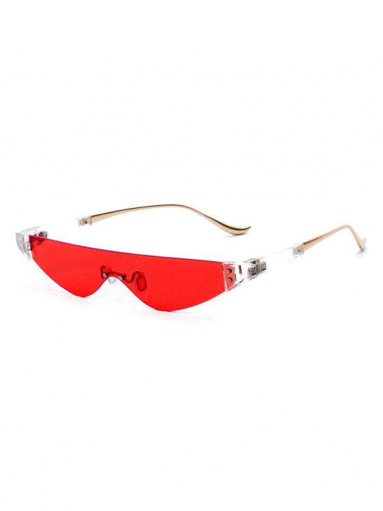 outfit Metal One-piece Triangle Sunglasses - LAVA RED