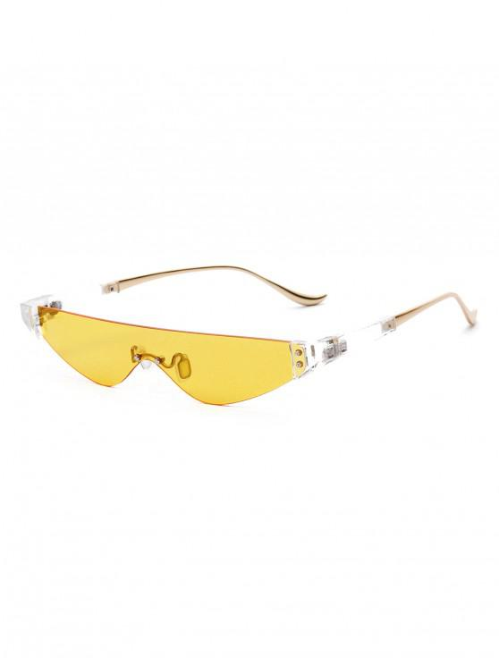 online Metal One-piece Triangle Sunglasses - YELLOW
