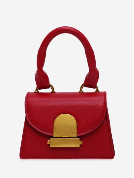 shop Top Handle Mini Flap Crossbody Bag - RED