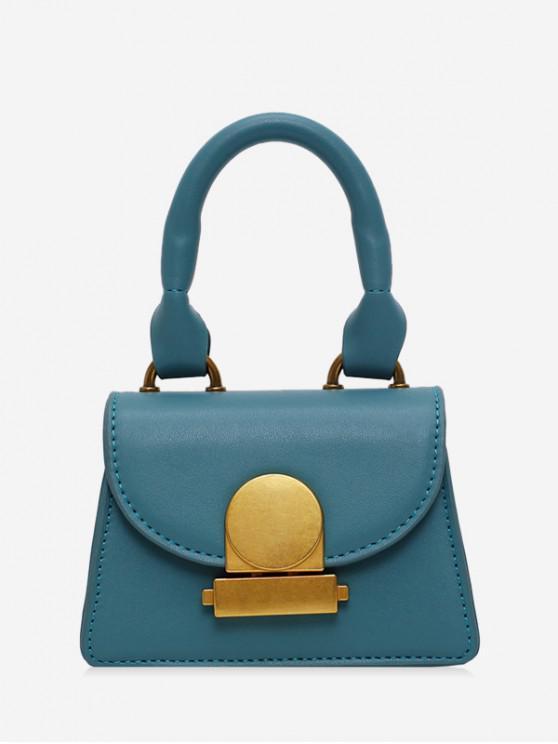 buy Top Handle Mini Flap Crossbody Bag - PEACOCK BLUE