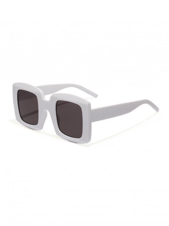 unique Anti UV Oversized Square Sunglasses - MILK WHITE