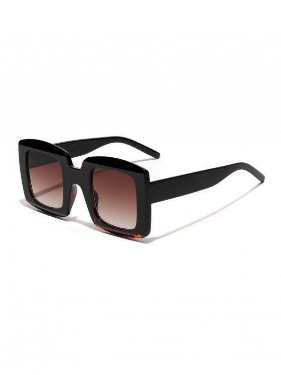 affordable Anti UV Oversized Square Sunglasses - LEOPARD