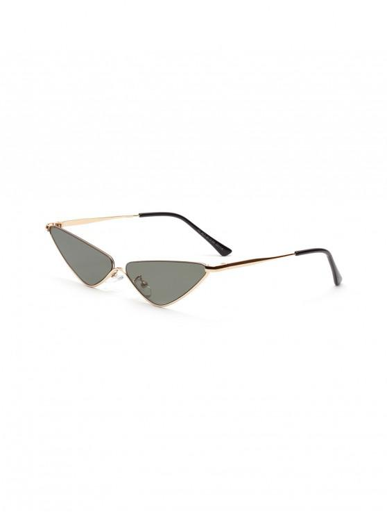 womens Triangle Metal Small Sunglasses - CAMOUFLAGE GREEN