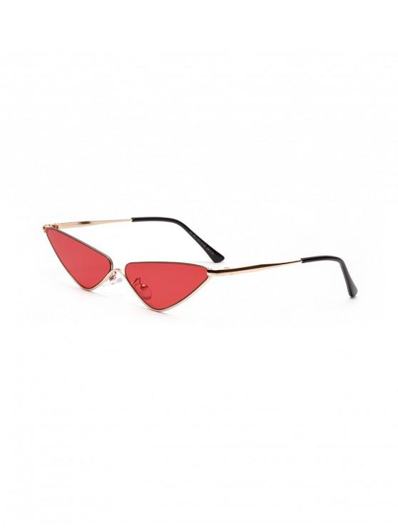 lady Triangle Metal Small Sunglasses - PALE VIOLET RED