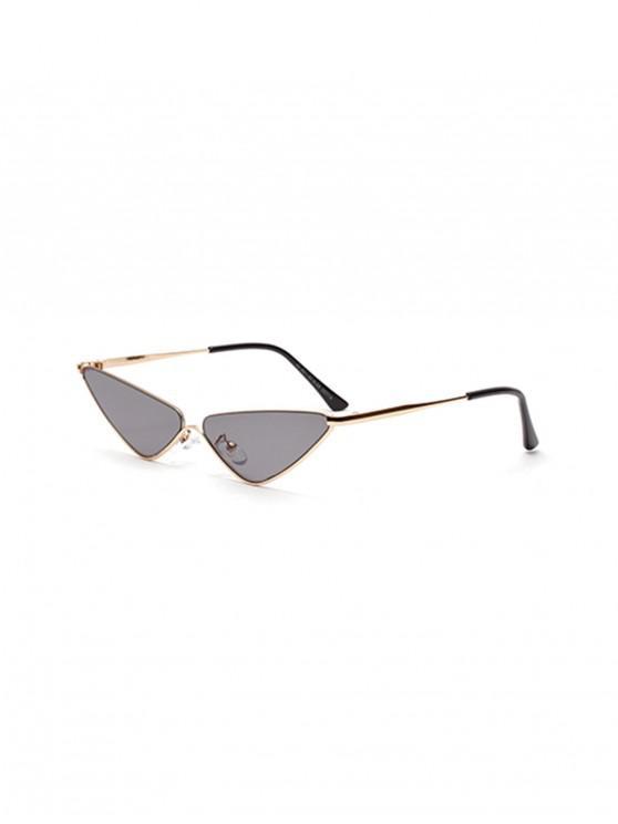 مثلث معدن النظارات الشمسية الصغيرة - سحابة رمادية