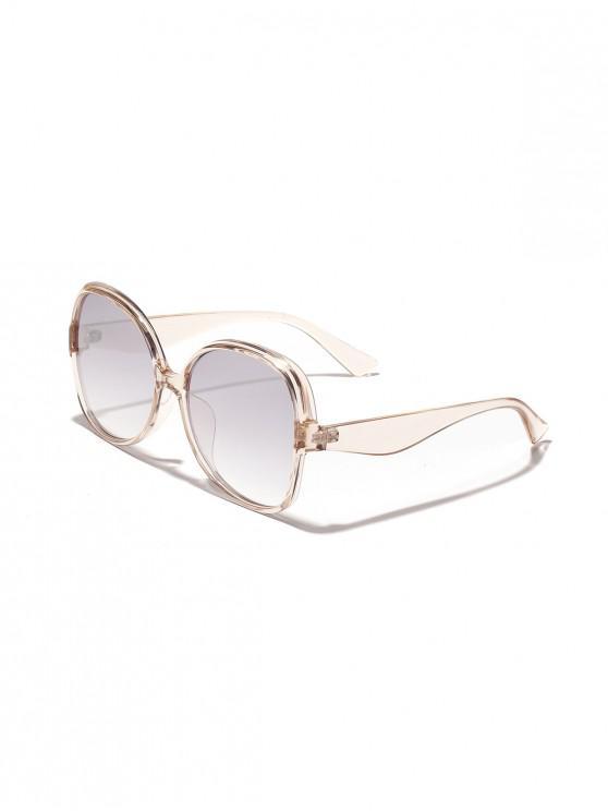 Gafas de sol forma de mariposa de gran tamaño - Plata