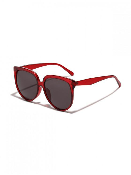 latest Unisex Oversized Anti UV Sunglasses - LAVA RED