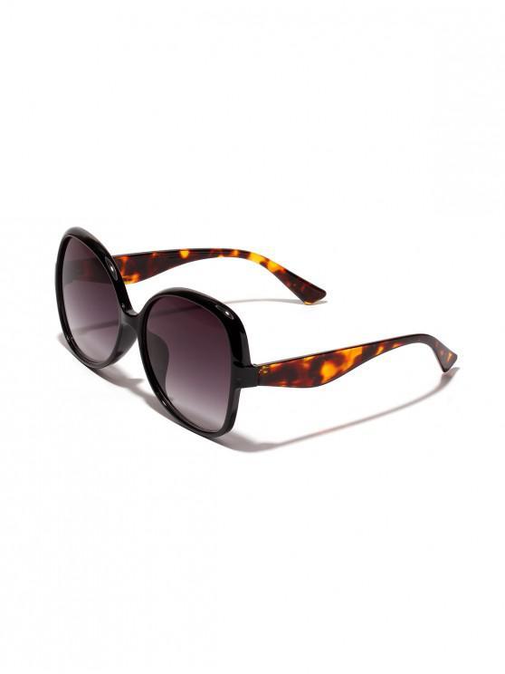 Gafas de sol forma de mariposa de gran tamaño - Negro