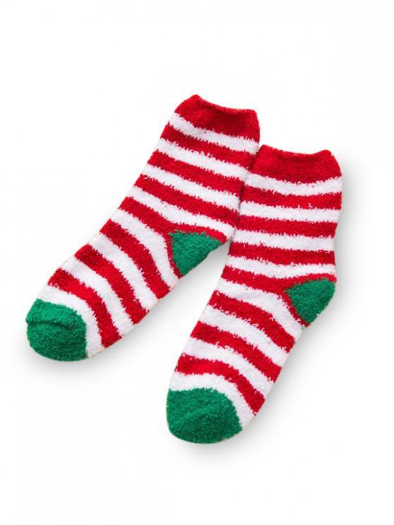 Chaussettes Longues Arbre de Noël en Daim - Multi-B