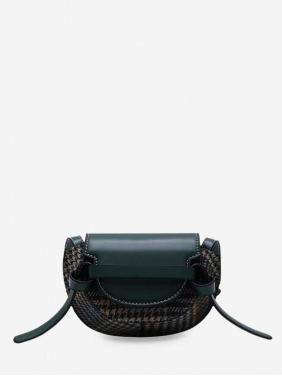 shops Houndstooth Pattern Mini Crossbody Bag - DARK GREEN