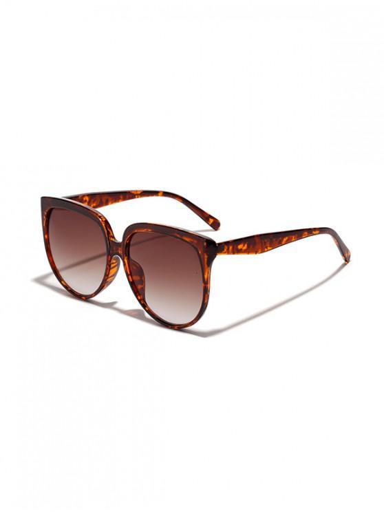 Unisex de gran tamaño gafas de sol Anti UV - Leopardo