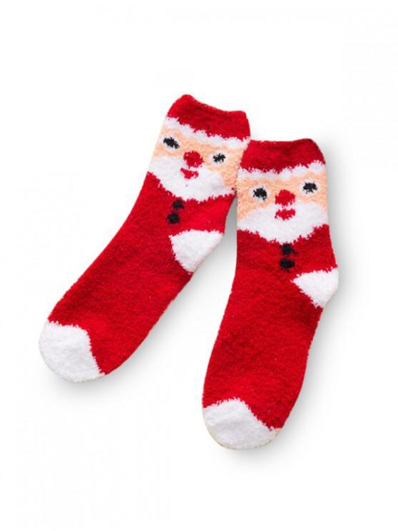 Árbol de Navidad de gamuza calcetines cuartos de largo - Multicolor-F