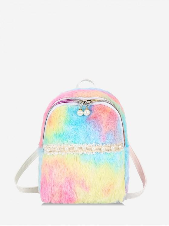 online Multi-color Gradient Fuzzy Mini Backpack - MULTI