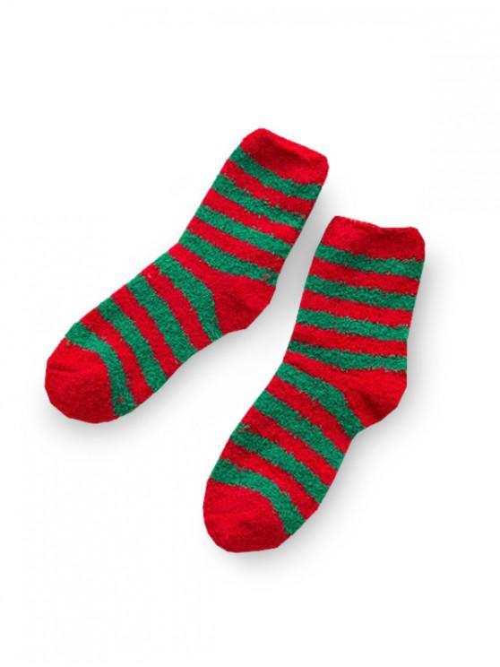 Chaussettes Longues Arbre de Noël en Daim - Multi-A