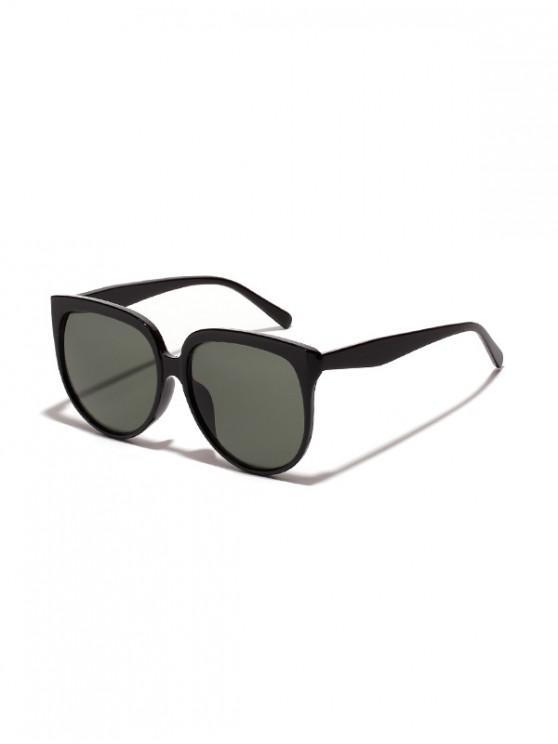 Unisex de gran tamaño gafas de sol Anti UV - Verde Oscuro