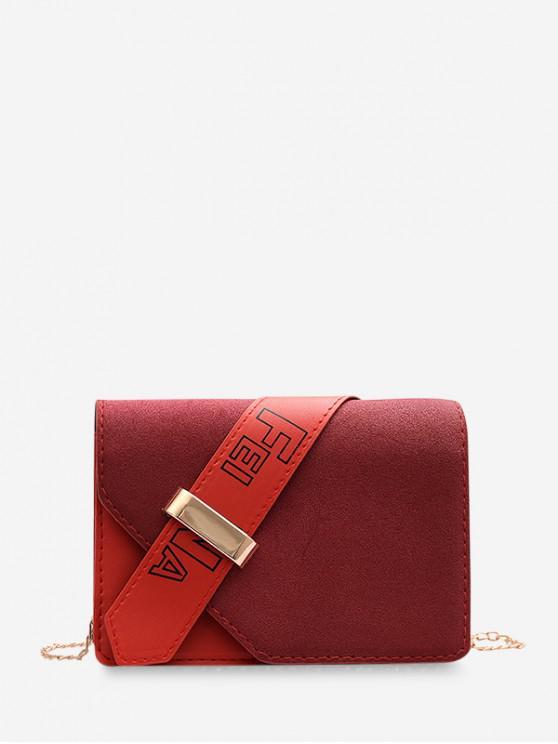 shops Christmas Square Shoulder Bag - LAVA RED