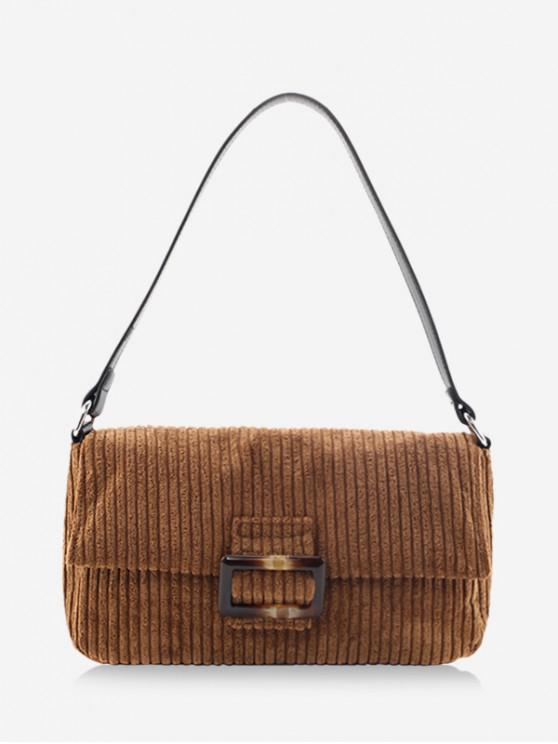 outfit Corduroy Single Shoulder Bag - LIGHT BROWN