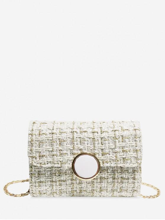 shops Christmas Plaid Chain Shoulder Bag - COOL WHITE