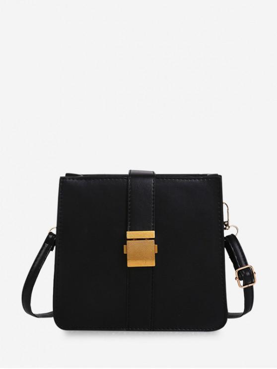 Bolsa de hombro hebilla cuadrada Classic - Negro