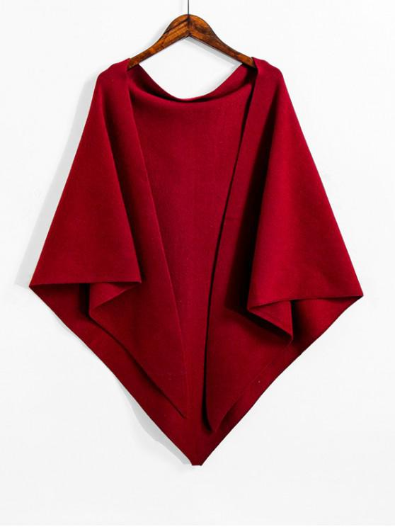 Faux cachemira de punto Triángulo Mantón - Vino Tinto