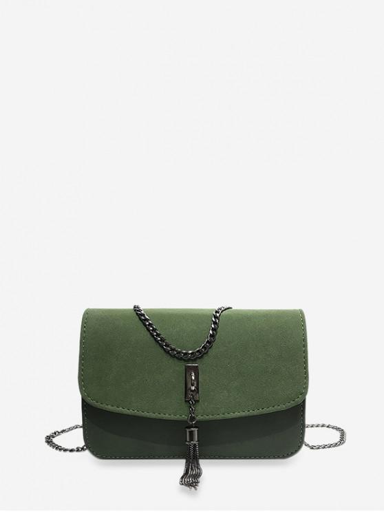 buy Tassel Crossbody Shoulder Bag - HAZEL GREEN