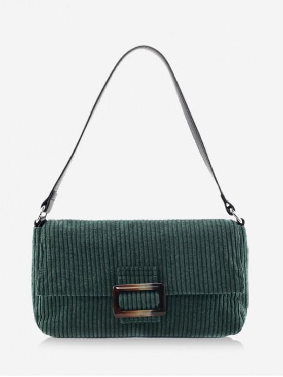 shops Corduroy Single Shoulder Bag - DARK GREEN