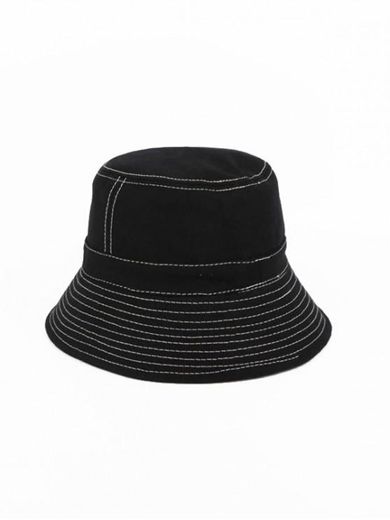 shops Sewing Retro Bucket Hat - BLACK