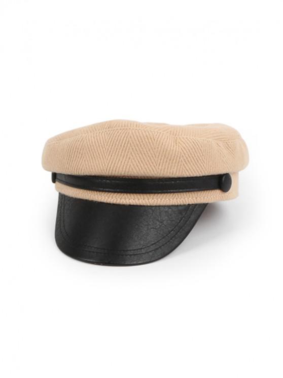 outfit Retro Corduroy Octagonal Hat - KHAKI