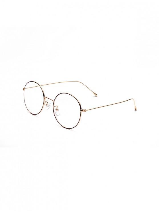 Marco redondo del metal vidrios llanos - Oro