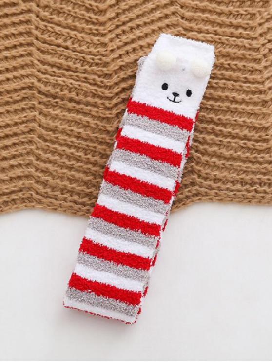 latest Christmas Suede Thigh High Socks - GRAY