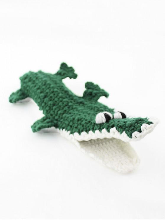 Рождественский принт животного Вязание Носки - Средний морской зеленый