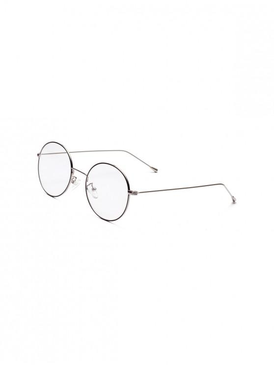 Marco redondo del metal vidrios llanos - Plata