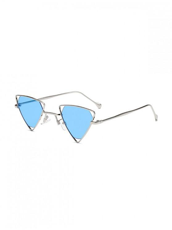 Gafas de sol de metal hueco Triángulo - Cielo Azul Oscuro